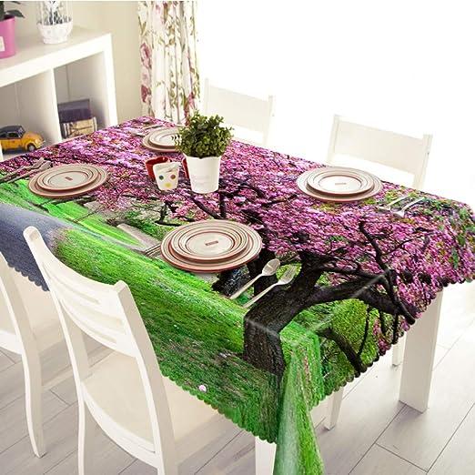 QWEASDZX Mantel Mantel de poliéster 3D Decoración de Cocina de ...