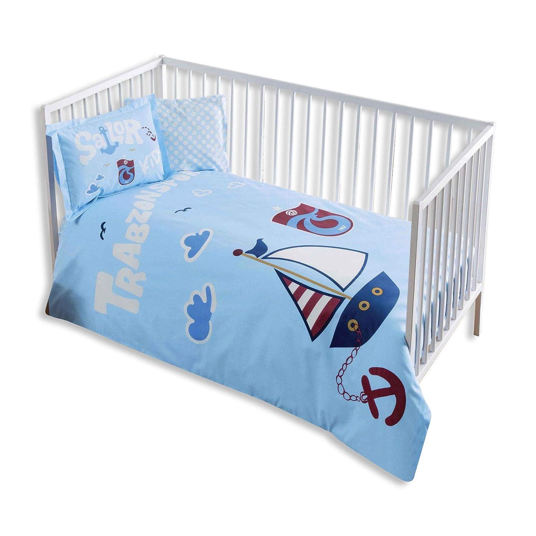 100% Bio-Baumwolle Weich und gesund Baby fü r Kinderbett, Bettbezug Set 4 Stü ck, Trabzonspor Sailor Offiziell Lizenz-Bettwä sche TAC