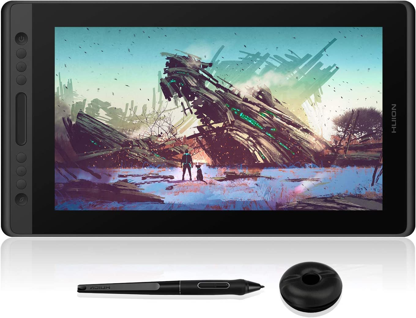 HUION Kamvas Pro 16 Drawing Monitor Pen Display 15.6 Inch IPS Full-Laminated Graphic Tablets with Screen, 8192 Battery-Free Pen, 120% sRGB