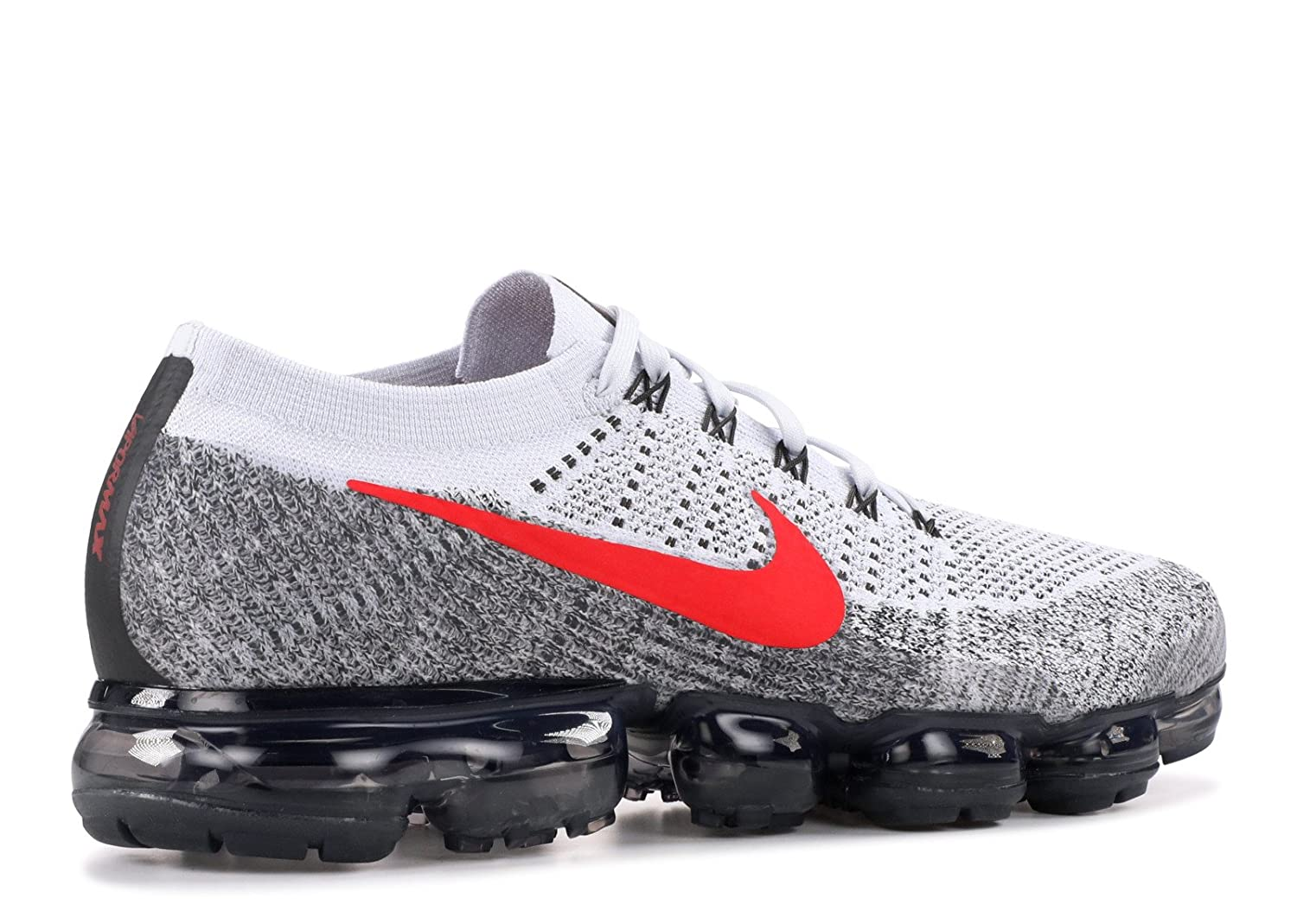 73a0b8e8f8 SasleTOPS Air Vapormax Flyknit Pure Platinum University Red 849558 020 Mens  Running Shoes: Amazon.co.uk: Shoes & Bags