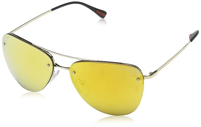 Prada Linea Rossa Damen Sonnenbrille PS53RS, Gold (Pale Gold ZVN5L2), One size (Herstellergröße: 57)