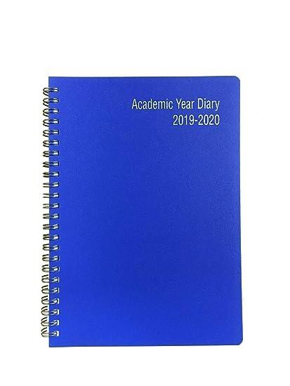 2019-2020 - Agenda escolar con tapa de plástico (tamaño A4, 18 ...