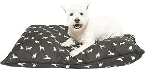 MOG & BONE Futon Dog Bed Black Designer Dog Print Small