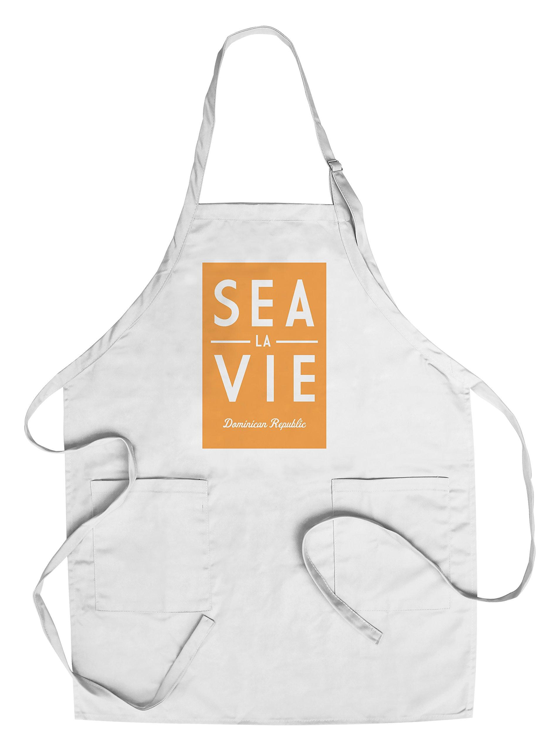 Dominican Republic - Sea La Vie - Simply Said (Cotton/Polyester Chef's Apron)