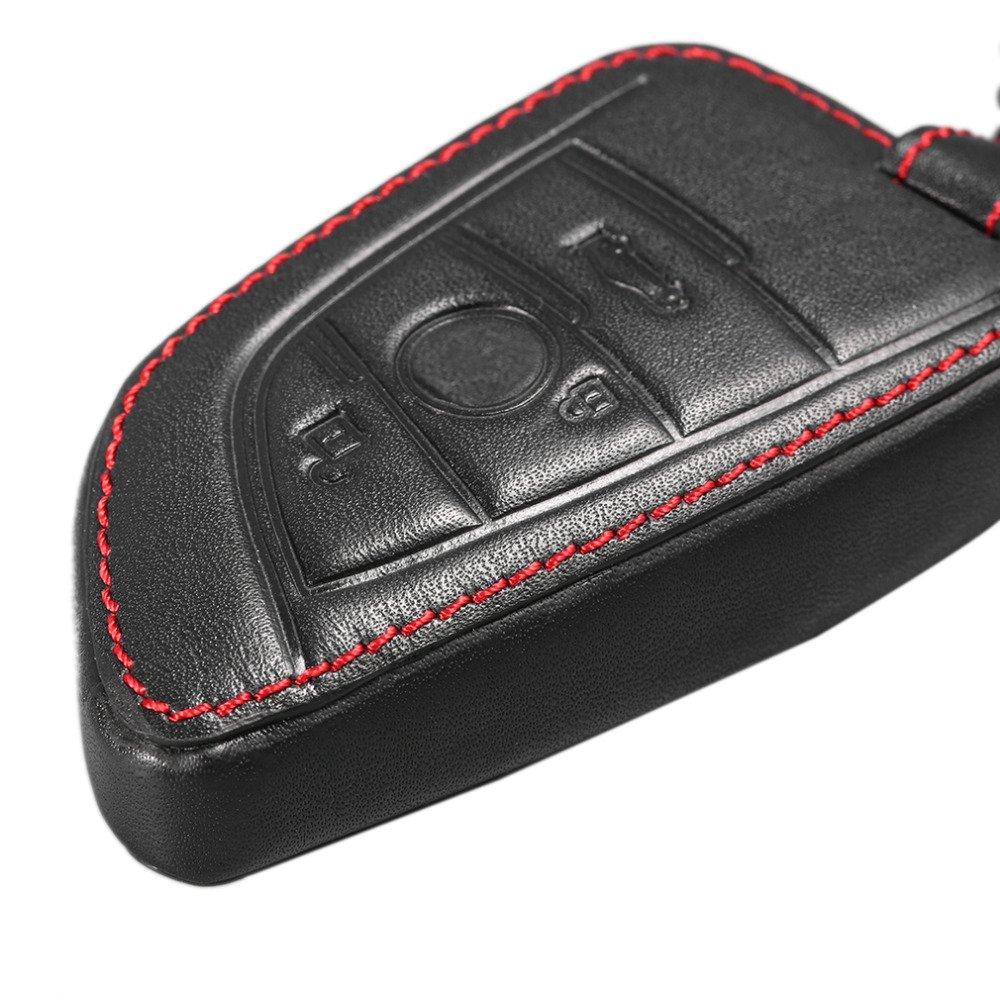 Happyit auto in vera pelle Smart Key case per BMW 2015/2016/2017/218I 220I X1/F48/X3/X4/X5/X6/telecomando accessori
