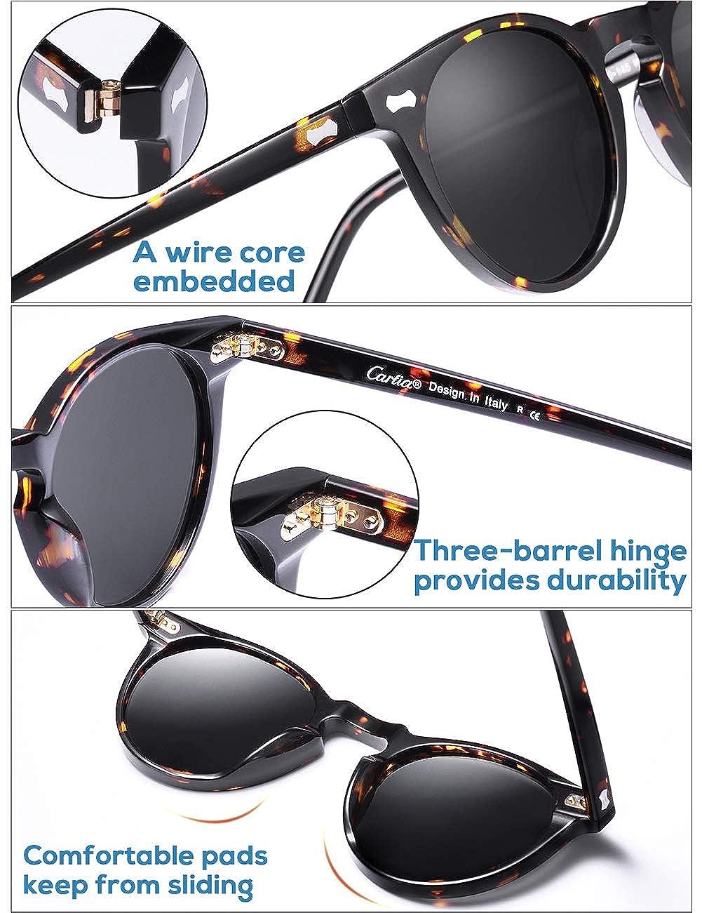 100/% UV400 Protection Carfia Lunettes de Soleil Polaris/ée pour Homme