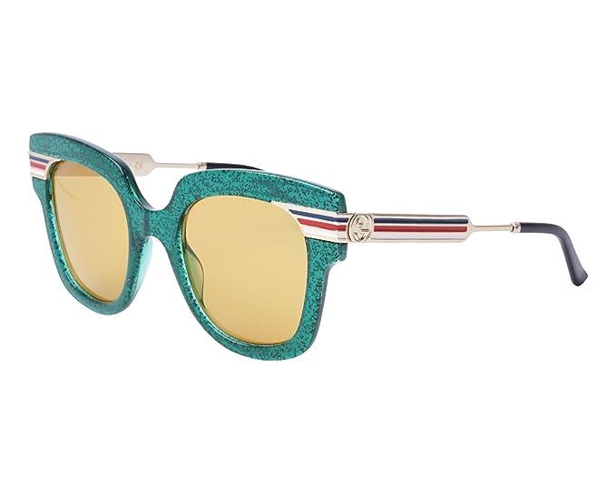 cc3915fbc8 Image Unavailable. Image not available for. Colour  Gucci Women s Sunglasses  Glitzer Grã¼n - Gold 15