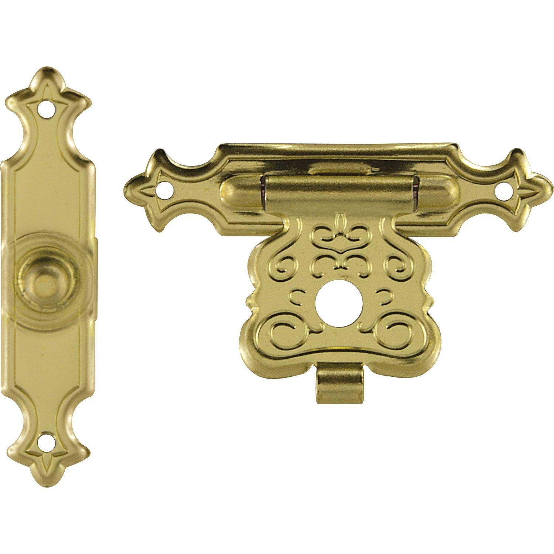1 St/ück gold-f/ärbig K/ästchen-Verschluss 47x20 mm Schatullen-Verschluss SECOTEC Kassetten-Verschluss