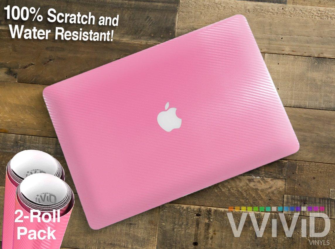 Glow-in-The-Dark Gloss VViViD Heat-Moldable Moisture-Resistant DIY Vinyl Universal Laptop Wrap 2-Roll Pack