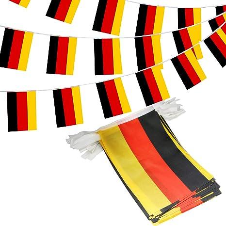 Anley? Banderines República Federal de Alemania, banderines de Cuerda, Eventos patrióticos, 3 de Octubre, decoración del día de la Unidad Alemana, ...