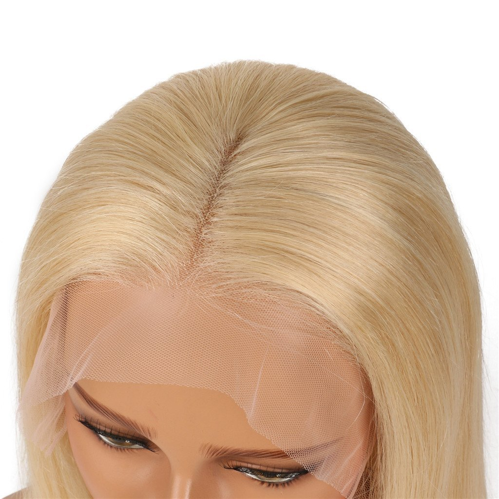 Nobel Hair Glueless Lace Front Blond Human Hair Bob Wigs With Baby Hair Pre Plucked 613 Blonde Short Wig Brazilian Virgin Hair 12Inches by Nobel Hair (Image #2)