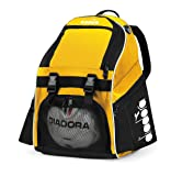 Diadora Squadra II Soccer Backpack, Gold/Black