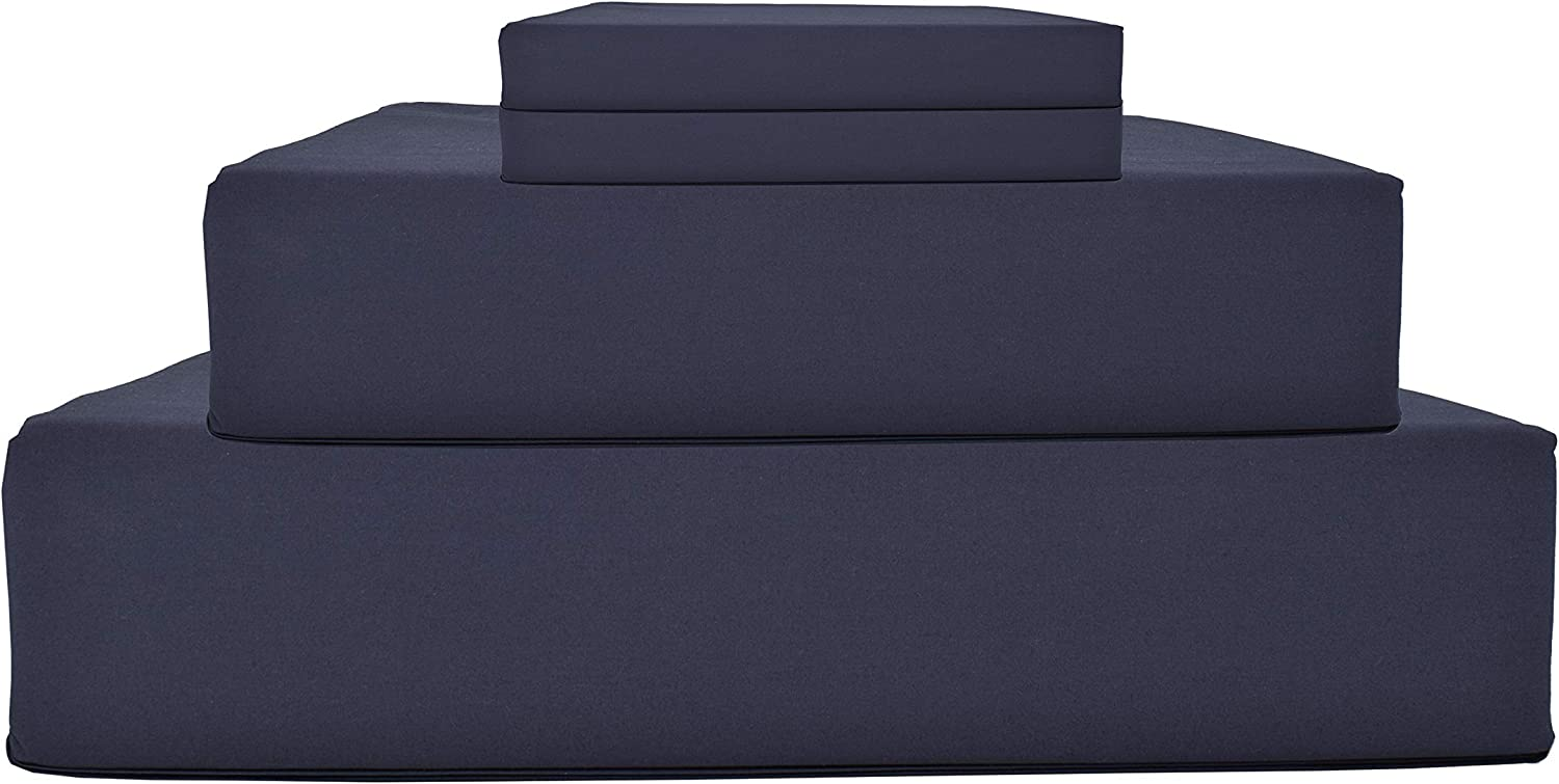 100% Cotton Percale Sheets Full Size, Navy Blue, Deep Pocket, 4 Piece - 1 Flat, 1 Deep Pocket Fitted Sheet and 2 Pillowcases, Crisp Cool and Strong Bed Linen