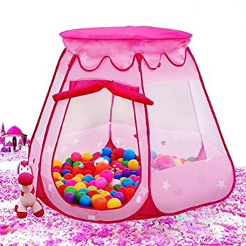 MAIKEHIGH Children Play Tent Ball Pit Hexagonal Foldable Castle Playhouse Pop Up House Tents For Kids  sc 1 st  Amazon.com & Amazon.com: MAIKEHIGH Children Play Tent Ball Pit Hexagonal ...