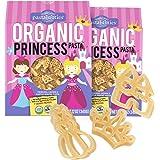 Pastabilities Organic Kids Pasta, Fun Princess Shaped Noodles, Non-GMO Natural Wheat Pasta (12 oz, 2 Pack)