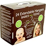 Grohangers Extendable Kids Clothes Hangers, 24 Pack