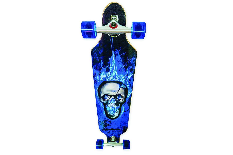 Siva 90151 - Longboard SKULL, blau