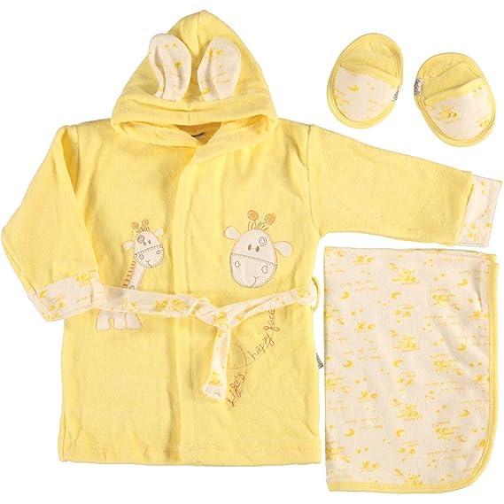 Café con diseño de bebé de tejido de rizo con albornoz de la jirafa toalla de