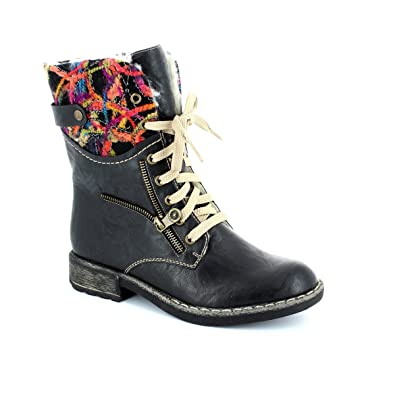 781a35b008da Rieker 74609-00 Scribe Black Multi Womens Ankle Boots: Amazon.co.uk: Shoes  & Bags