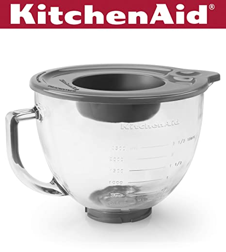 Brilliant Kitchenaid K5Gb 5 Qt Tilt Head Glass Bowl With Measurement Markings Lid Download Free Architecture Designs Ferenbritishbridgeorg