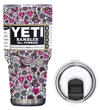 a7a082a3364 Amazon.com: YETI Coolers 30 Ounce (30oz) (30 oz) Custom Rambler Tumbler Cup  Mug Bundle with New Magslider Lid (Dipped Pink Sugar Skull): Kitchen &  Dining