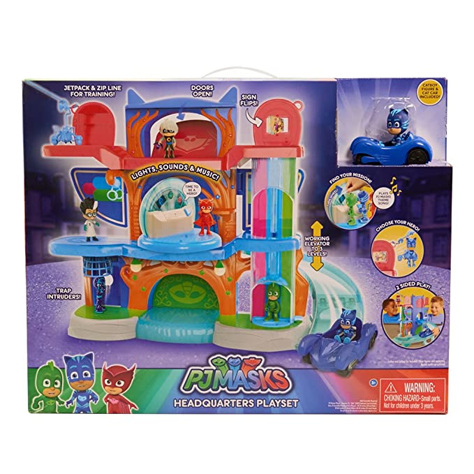 Amazon Pj Masks Deluxe Headquarter Play Set Toys Games