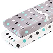 Stretchy Changing Pad Covers-BROLEX 2 Pack Jersey Knit Change Pad Covers for Girls Boys,Balloons