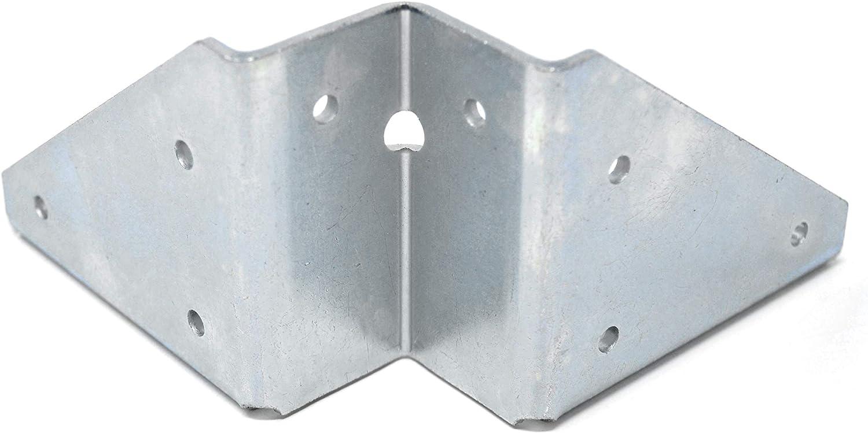 Design61 Juego de 4 herrajes angulados para patas de mesa de acero, 123 x 123 mm