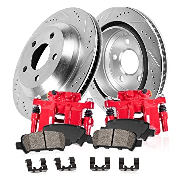 Rear Red Performance Replacement Brake Disc Calipers For NISSAN MAXIMA ALTIMA