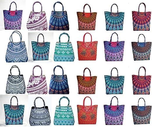 5 PC Wholesale Lot Indian Mandala Satchel Purse Bag Hobo Bag Shoulder Handbag