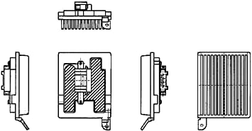 Mercedes Viano Vito W639 HELLA A//C Heater Blower Motor Regulator Resistor 2003