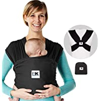 Baby K'tan Breeze Baby Wrap Carrier, Infant and Child Sling - Simple Pre-Wrapped Holder for Babywearing - No Tying or…