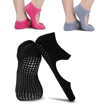 Calcetines para yoga antideslizantes y de agarre suave, de moreFit, para mujer. Ideal también para danza, pilates, Barre y otros deportes