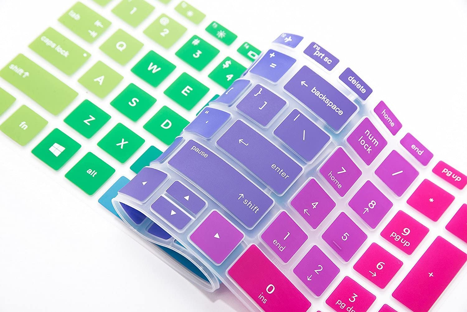 Gradual Purple 17.3 HP 17m ae series ae011dx ae111dx Laptop Leze Ultra Thin Keyboard Cover for HP Pavilion 15-cc010nr 15-cc020nr 15-bw069nr 15-bw070nr 15-bs015dx 15-bs013dx 17-bs019dx 17-bs049dx