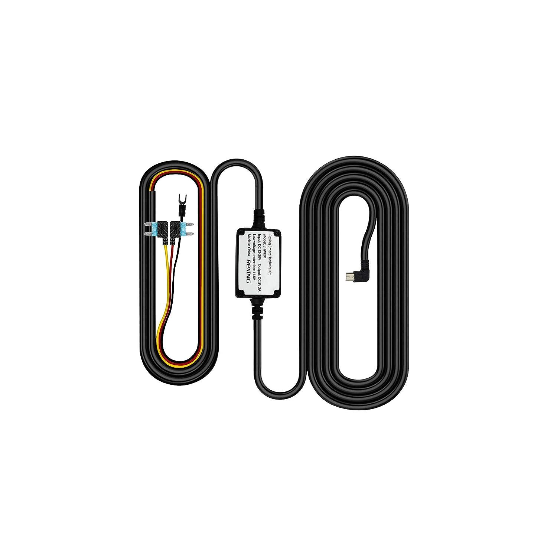 Rexing Smart Hardwire Kit Mini-USB Port for Rexing V1 V1P Upgrade Version V3 Dash Cams /…