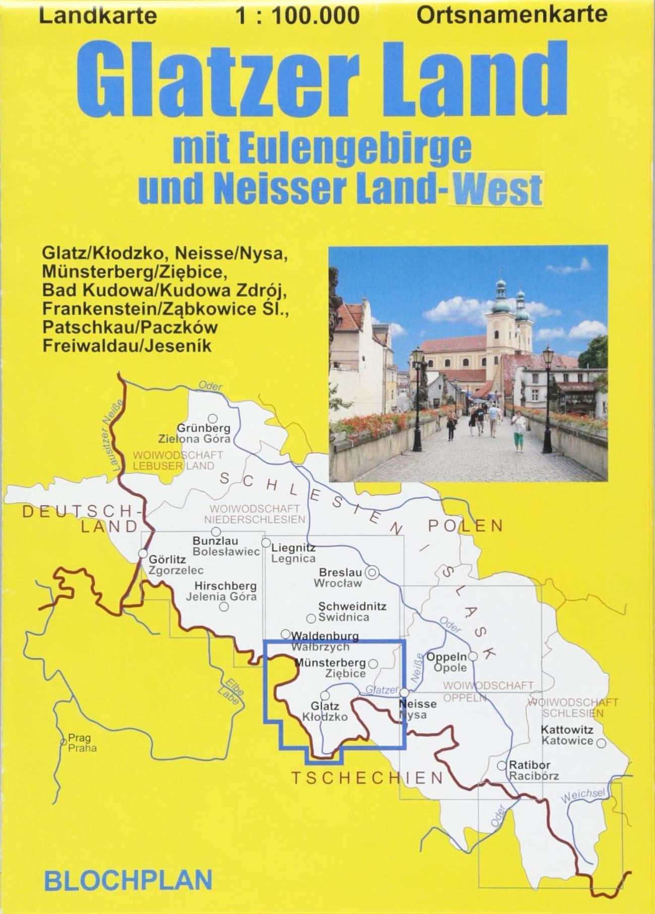 Schlesien Karte Heute.Landkarte Glatzer Land Mit Eulengebirge Und Neisser Land West Im