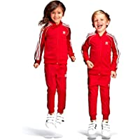 adidas Sweat Suit for Kids Red and White