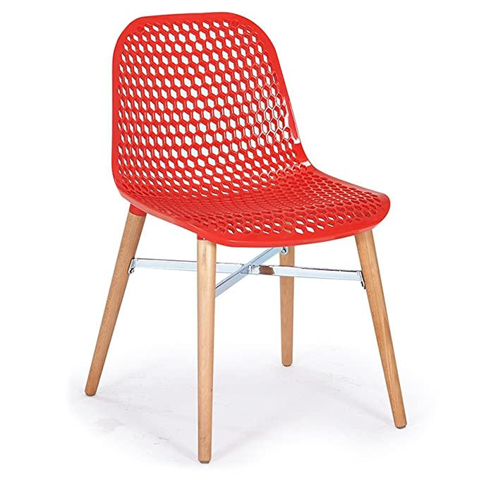 Amazon.com: ZfgG Modern Minimalist Hollow Chair Stylish Restaurant ...