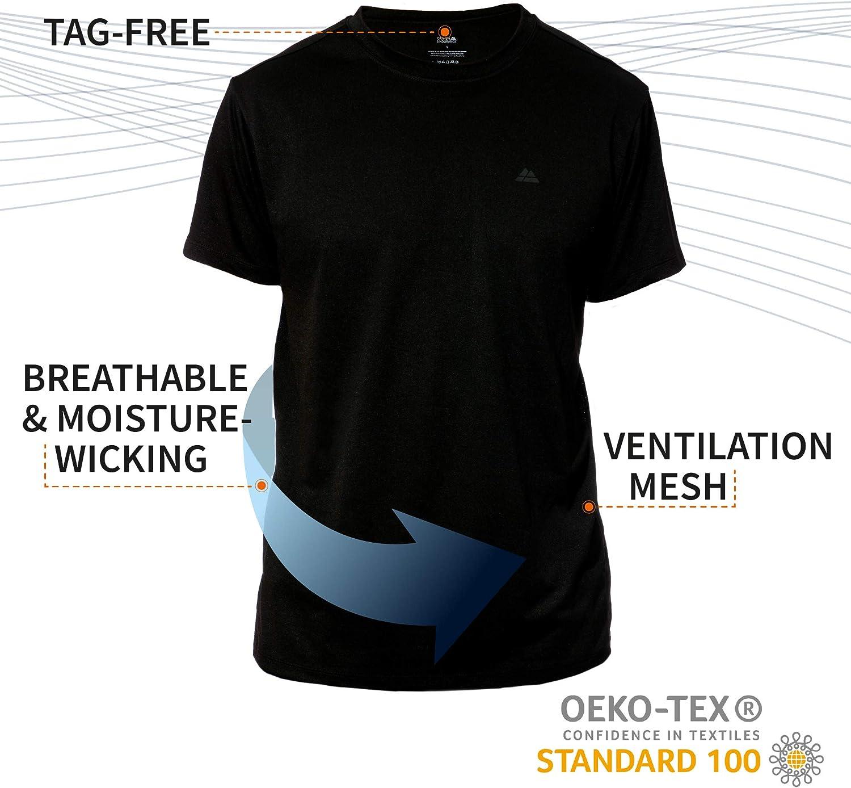 Absorbe la Humedad Transpirable 100/% Reciclada Camiseta de Manga Corta Camiseta Reciclada Deportiva para Hombre para Entrenamientos y Running Pack de 1 Suave
