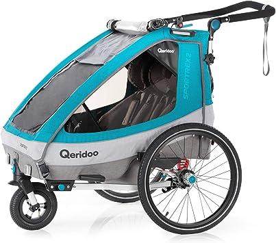 Qeridoo Sportrex1 (2018) - Remolque de Bicicleta para 1 niño (con ...