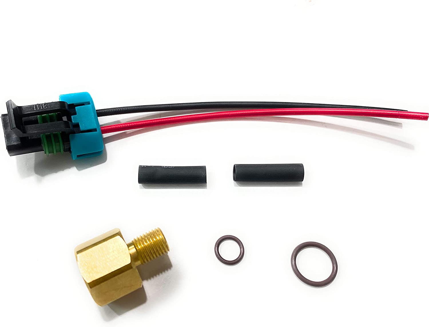 5.0 Sierra 18-8868 with O Rings Brass Fitting and with Adapter and Harness Kit Replaces Mercruiser 861155A3 Low Pressure Electric Fuel Pump for Mercury Mercruiser 4.3 5.7 carburated Engines