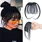 "Big Sale 8""(20cm) Bangs Clip in Hair Extensions Front Neat Bang Fringe One Piece Striaght Hairpiece Accessories"