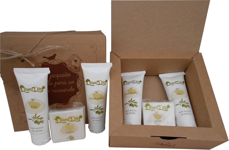 Caja kraft para detalles de invitados con cosmetica de Aceite de Oliva. Pack de 6 unidades: Amazon.es: Hogar