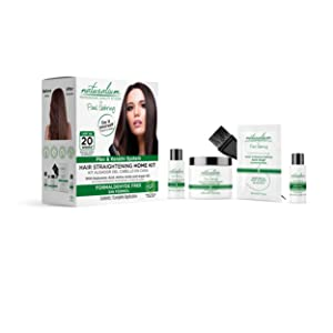 Hair Straightening Home Kit by Naturalium Professional Quality at Home   Advanced Plex and Keratin Hair Treatment Technology   Complete Hair Treatment Kit   Easy 6-Step Application