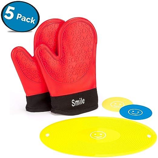 Juego de guantes y remaches de silicona para horno de LVKH (5 ...
