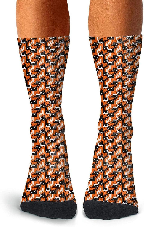 Rrrmaryland flag oriole Non-Slid Socks for men Vintage high socks