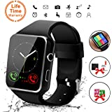 Android Smart Watch, Bluetooth Smart Watch con SIM Card Slot Fotocamera Orologio Intelligente, Cardiofrequenzimetro da Polso Contapassi Braccialetto Pedometro per Uomo Donna per Android Smartphones