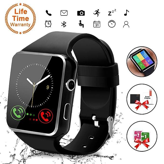Smart Watch,Bluetooth Smartwatch Touch Screen Wrist Watch with Camera/SIM Card Slot,