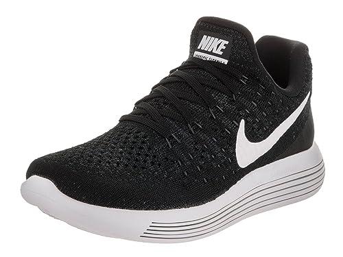best sneakers 83f2f 0b420 Nike Womens Lunarepic Low Flyknit 2 Black White Anthracite Running Shoe 11  Women US