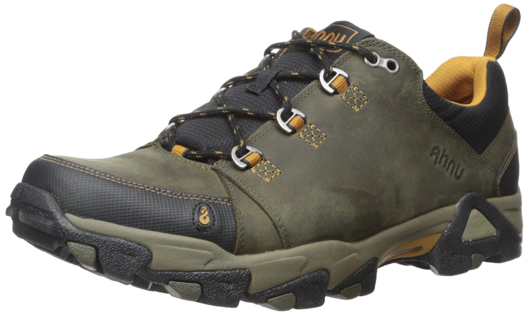 Ahnu Men's Coburn Low Hiking Shoe, Bunker Green, 7.5 M US